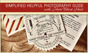 00 simplified helpful photography guide with photo cheat sheet 300x183 How to shoot in manual