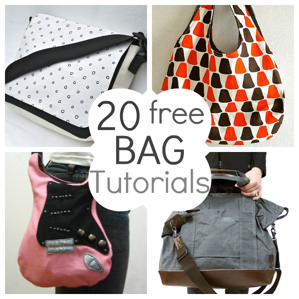 Patterns For Bags : 20 Free Beautiful Bag Tutorials and Patterns The Brightness Project