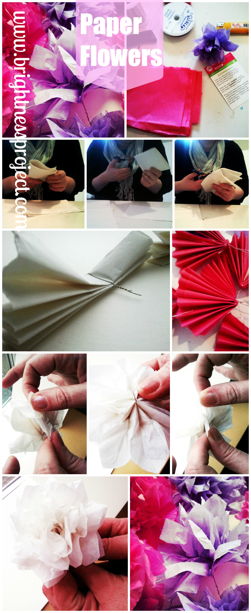 flowertut Tissue Paper Flower Tutorial