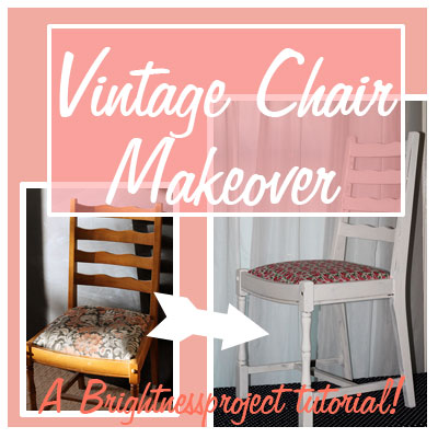 Vintage style chair makeover