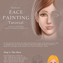 Face Painting Tutorial by daniel oldenburg 40 Free Art Tutorials