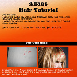 Hair Tutorial by SilentDeath007 40 Free Art Tutorials
