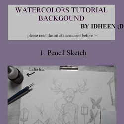 Tutorial  watercolors BG by idheen 40 Free Art Tutorials