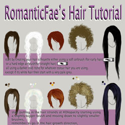 hair tutorial by romanticfae d3kvuhe 40 Free Art Tutorials