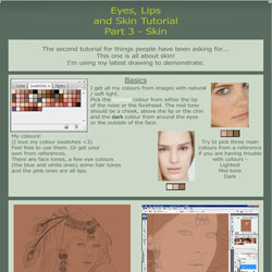 tutorial   skin  faces by gothic icecream d4780l1 40 Free Art Tutorials
