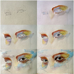 watercolor eye study tutorial by jane beata d502p22 40 Free Art Tutorials