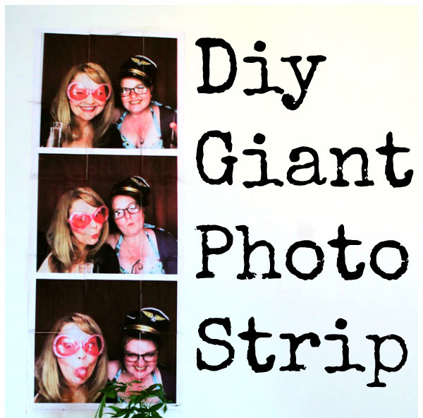 DIY Giant Wall Photo Strip