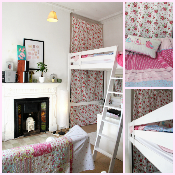 Small space living ideas- loft bed